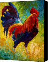 Rooster Canvas Prints - Hot Shot - Rooster Canvas Print by Marion Rose