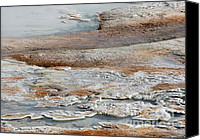 Yellowstone Park Canvas Prints - Hot Springs Abstract Two Canvas Print by Sabrina L Ryan