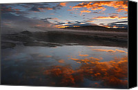 Sunset Canvas Prints - Hot springs in the Bolivian altiplano. Canvas Print by Eric Bauer