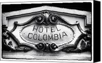 Fotos Canvas Prints - Hotel Colombia Canvas Print by John Rizzuto