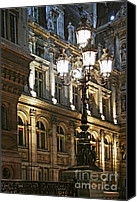 Architecture Photo Canvas Prints - Hotel de Ville in Paris Canvas Print by Elena Elisseeva