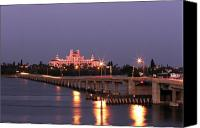 Florida Bridge Photo Canvas Prints - Hotel Don Cesar The Pink Palace St Petes Beach Florida Canvas Print by Mal Bray