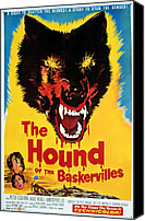 Horror Fantasy Movies Canvas Prints - Hound Of The Baskervilles, Hammer Canvas Print by Everett