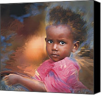 Haitian Canvas Prints - Hour Of Need Canvas Print by Bob Salo