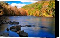 Fall Scenes Canvas Prints - Housatonic Meadows Autumn landscape Canvas Print by Thomas Schoeller