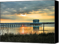 Chincoteague Canvas Prints - House At the End of the Pier Canvas Print by Steven Ainsworth