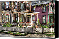 Old Houses Canvas Prints - House - Country Victorian Canvas Print by Mike Savad