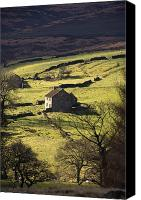 Farm Houses Canvas Prints - House In Countryside, North York Moors Canvas Print by John Short