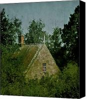 Creepy Canvas Prints - House In The Trees Canvas Print by Odd Jeppesen