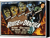 Horror Fantasy Movies Photo Canvas Prints - House Of Dracula, Glenn Strange, John Canvas Print by Everett