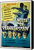Horror Fantasy Movies Canvas Prints - House Of Frankenstein, Boris Karloff Canvas Print by Everett