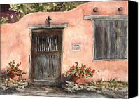 Santa Fe Canvas Prints - House On Delgado Street Canvas Print by Sam Sidders
