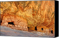 Indian Ruins Canvas Prints - House on Fire Anasazi Indian Ruins Canvas Print by Gary Whitton