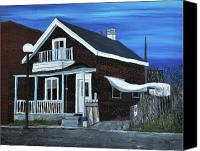 Old Houses Canvas Prints - House on Hadley Street Canvas Print by Reb Frost