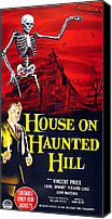 Haunted House Canvas Prints - House On Haunted Hill, Bottom Left Canvas Print by Everett