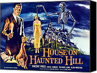 Haunted House Canvas Prints - House On Haunted Hill, Left Vincent Canvas Print by Everett