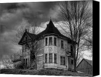 Haunted House Canvas Prints - House On The Hill Canvas Print by Thomas Young
