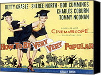 1955 Movies Canvas Prints - How To Be Very, Very Popular, Betty Canvas Print by Everett