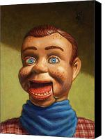 Toys Canvas Prints - Howdy Doody dodged a bullet Canvas Print by James W Johnson