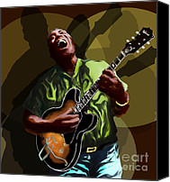 Epiphone Canvas Prints - Howlin Wolf Canvas Print by David Fossaceca