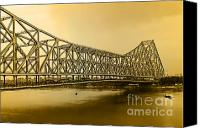 City Of Bridges Photo Canvas Prints - Howrah Bridge Canvas Print by Mukesh Srivastava
