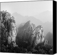Mountains Canvas Prints - Huangshan Peaks Canvas Print by Vincent Boreux Photography