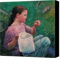 Huckleberry Canvas Prints - Huckleberry Picker Canvas Print by Robert Bissett