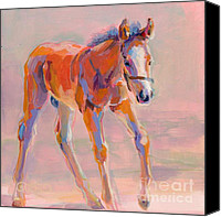Foal Painting Canvas Prints - Hugo Canvas Print by Kimberly Santini
