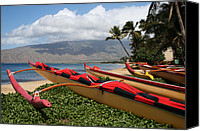 Hawaii Beach Art Canvas Prints - Hui Waa o Kihei Canvas Print by Sharon Mau