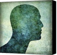 Bald Canvas Prints - Human representation Canvas Print by Bernard Jaubert