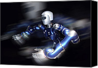 Future Tech Canvas Prints - Humanoid Robot, Artwork Canvas Print by Detlev Van Ravenswaay