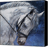 Dressage Canvas Prints - Humble Beauty Canvas Print by Enzie Shahmiri