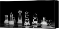 Chess Game Canvas Prints - Hunt For The King Canvas Print by Priska Wettstein