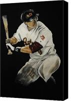 Hunter Pence Painting Canvas Prints - Hunter Pence 2 Canvas Print by Leo Artist
