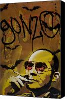 Taeoalii Canvas Prints - Hunter S. Thompson Canvas Print by Iosua Tai Taeoalii