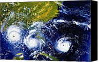 Natural Disasters Canvas Prints - Hurricane Andrew Time Lapse Canvas Print by Stocktrek Images