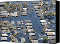 Hurricane Katrina Canvas Prints - Hurricane Katrina Damage Canvas Print by Science Source