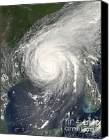 Hurricane Katrina Canvas Prints - Hurricane Katrina Canvas Print by NASA / Science Source