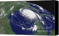 Hurricane Katrina Canvas Prints - Hurricane Katrina Canvas Print by Science Source