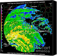 Hurricane Katrina Canvas Prints - Hurricane Katrina, Wfo Radar, 2005 Canvas Print by Science Source