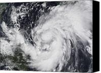 Natural Disasters Canvas Prints - Hurricane Wilma In The Atlantic Canvas Print by Stocktrek Images