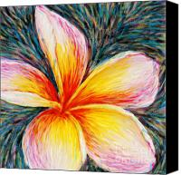 Plumeria Canvas Prints - Hurt Filling Canvas Print by Atiketta Sangasaeng