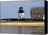 Beach  Wind Surfing Canvas Prints - Hyannis Port Lighthouse Canvas Print by Annie Zeno