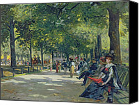 Oil Lamp Canvas Prints - Hyde Park - London  Canvas Print by Count Girolamo Pieri Nerli
