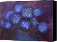 Susan Hanlon Canvas Prints - Hydrangeas Canvas Print by Susan Hanlon
