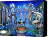 Siren Canvas Prints - Hydromedas Kitchen Canvas Print by Patrick Anthony Pierson