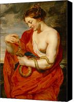 Ancient Greece Painting Canvas Prints - Hygeia - Goddess of Health Canvas Print by Peter Paul Rubens