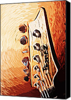 Guitar Headstock Canvas Prints - I - banez Canvas Print by Tilly Williams