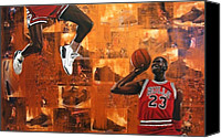 Athlete Canvas Prints - I Believe I Can Fly - Michael Jordan Canvas Print by Ryan Jones
