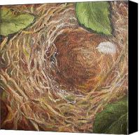 Irene Corey Canvas Prints - I Built You a Nest Canvas Print by Irene Corey